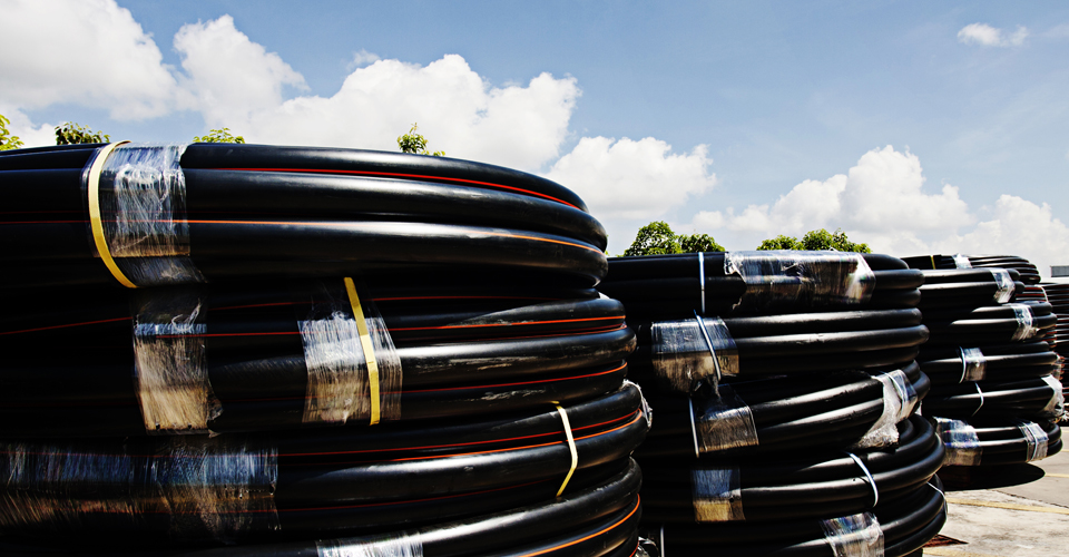 HDPE pipes for moving water and gas and other essentials.